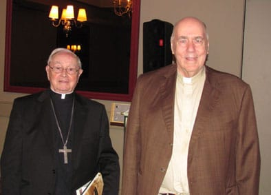 Most Rev. John A. O'Mara and Rev. Edward Jackman, CCHA Secretary-General