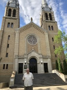 Father Jackman at Regina's Catholic Cathedral